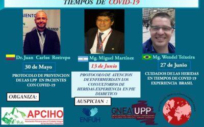 I Jornada Virtual Gratuita, «Nuevas tendencias en el Cuidado de las Heridas en tiempos de COVID-19.